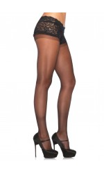 Black Boyshort Sheer Pantyhose  - Pack of 3