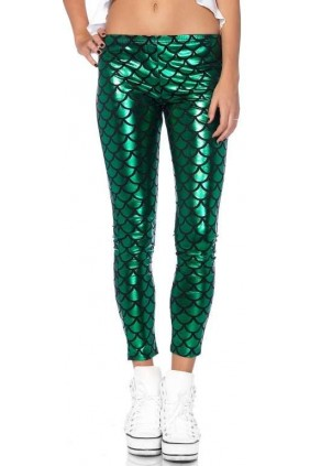Mermaid Green Scale Leggings Sensual Elegance Fashion, Lingerie and Shoes Women's Sexy Clothing & Lingerie - Clubwear, Plus Size Clothing & Accessories