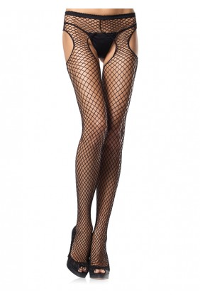 Industrial Net Black Suspender Pantyhose  - Pack of 3 Sensual Elegance Fashion, Lingerie and Shoes Women's Sexy Clothing & Lingerie - Clubwear, Plus Size Clothing & Accessories