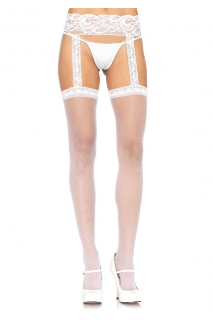 Lace Garter Belt Suspender Sheer Stockings  - Pack of 3 at Sensual Elegance Fashion, Lingerie and Shoes, Women's Sexy Clothing & Lingerie - Clubwear, Plus Size Clothing & Accessories