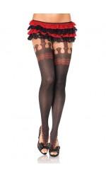 Marquee Printed Faux Garterbelt Pantyhose 3 Pack