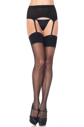 Black Spandex Stockings and Garter Belt Set Sensual Elegance Fashion, Lingerie and Shoes Women's Sexy Clothing & Lingerie - Clubwear, Plus Size Clothing & Accessories