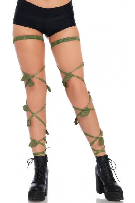 Poison Ivy Leg Wraps at Sensual Elegance Fashion, Lingerie and Shoes, Women's Sexy Clothing & Lingerie - Clubwear, Plus Size Clothing & Accessories