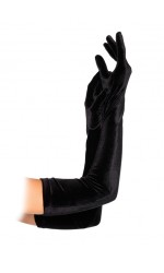 Black Velvet Opera Gloves