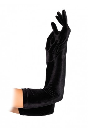 Black Velvet Opera Gloves Sensual Elegance Fashion, Lingerie and Shoes Women's Sexy Clothing & Lingerie - Clubwear, Plus Size Clothing & Accessories