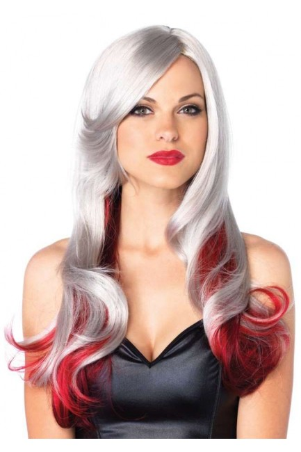 Allure Multi Color Wig with Color Tips at Sensual Elegance Fashion, Lingerie and Shoes, Women's Sexy Clothing & Lingerie - Clubwear, Plus Size Clothing & Accessories