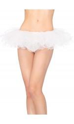 Tulle Swirl Edge White Tutu Petticoat Skirt