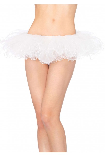 Tulle Swirl Edge White Tutu Petticoat Skirt at Sensual Elegance Fashion, Lingerie and Shoes, Women's Sexy Clothing & Lingerie - Clubwear, Plus Size Clothing & Accessories