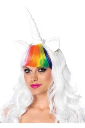 Unicorn Cosplay Costume Wig and Tail Set