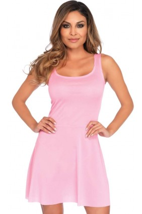 Basic Pink Womens Skater Dress Sensual Elegance Fashion, Lingerie and Shoes Women's Sexy Clothing & Lingerie - Clubwear, Plus Size Clothing & Accessories