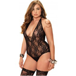 Floral Lace Plus Size Teddy and Stocking Set Sensual Elegance Sexy Womens Lingerie & Clothing for All Sizes - Clubwear, Bridal & Plus Size Lingerie