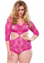 Lace Queen Size Teddy with Full Back Panty at Sensual Elegance Fashion, Lingerie and Shoes, Women's Sexy Clothing & Lingerie - Clubwear, Plus Size Clothing & Accessories