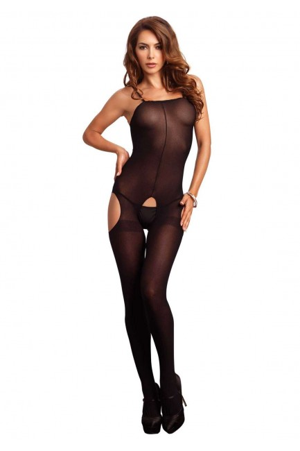 Opaque Spaghetti Strap Suspender Bodystocking at Sensual Elegance Fashion, Lingerie and Shoes, Women's Sexy Clothing & Lingerie - Clubwear, Plus Size Clothing & Accessories