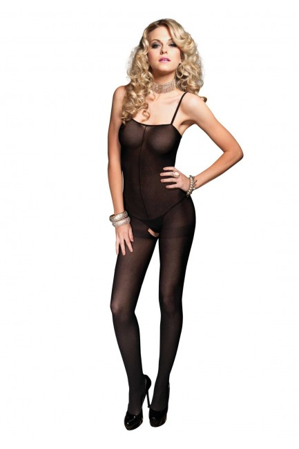 Opaque Spaghetti Strap Bodystocking at Sensual Elegance Fashion, Lingerie and Shoes, Women's Sexy Clothing & Lingerie - Clubwear, Plus Size Clothing & Accessories