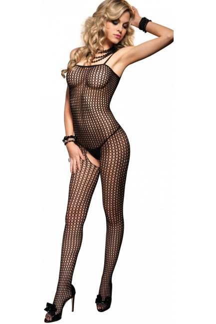 Crochet Net Seamless Bodystocking at Sensual Elegance Fashion, Lingerie and Shoes, Women's Sexy Clothing & Lingerie - Clubwear, Plus Size Clothing & Accessories