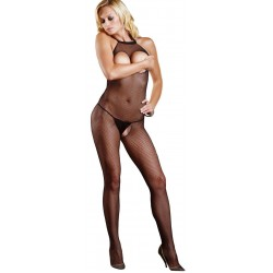 Fishnet Open Bust Bodystocking Sensual Elegance Sexy Womens Lingerie & Clothing for All Sizes - Clubwear, Bridal & Plus Size Lingerie