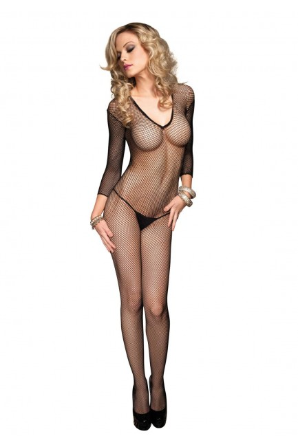 V Net Fishnet Bodystocking at Sensual Elegance Fashion, Lingerie and Shoes, Women's Sexy Clothing & Lingerie - Clubwear, Plus Size Clothing & Accessories