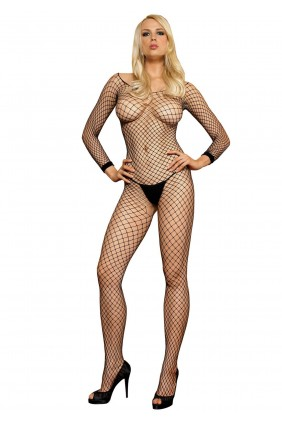 Lycra Long Sleeve Industrial Bodystocking Sensual Elegance Fashion, Lingerie and Shoes Women's Sexy Clothing & Lingerie - Clubwear, Plus Size Clothing & Accessories