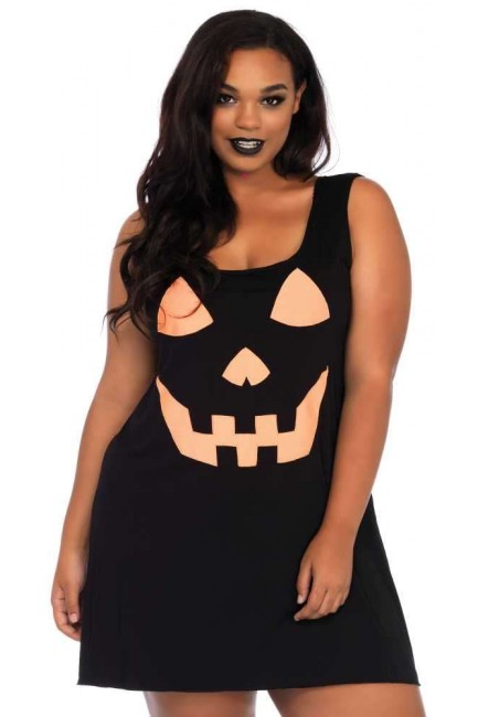 Pumpkin Plus Size Jersey Dress at Sensual Elegance Fashion, Lingerie and Shoes, Women's Sexy Clothing & Lingerie - Clubwear, Plus Size Clothing & Accessories