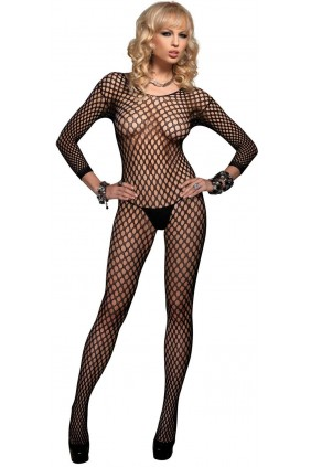 Ringo Net Long Sleeved Bodystocking Sensual Elegance Fashion, Lingerie and Shoes Women's Sexy Clothing & Lingerie - Clubwear, Plus Size Clothing & Accessories