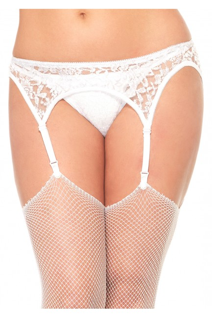 White Lace Garterbelt and Thong Set at Sensual Elegance Fashion, Lingerie and Shoes, Women's Sexy Clothing & Lingerie - Clubwear, Plus Size Clothing & Accessories