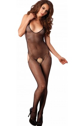 Halter Fishnet Suspender Bodystocking Sensual Elegance Fashion, Lingerie and Shoes Women's Sexy Clothing & Lingerie - Clubwear, Plus Size Clothing & Accessories