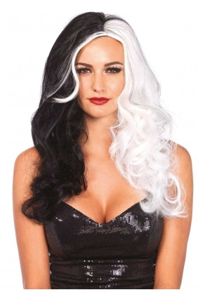 Cruella 2 Tone Long Costume Wig Sensual Elegance Fashion, Lingerie and Shoes Women's Sexy Clothing & Lingerie - Clubwear, Plus Size Clothing & Accessories
