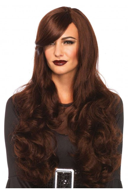 Extra Long Brown Wavy Wig at Sensual Elegance Fashion, Lingerie and Shoes, Women's Sexy Clothing & Lingerie - Clubwear, Plus Size Clothing & Accessories