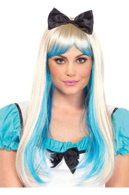 Alice Costume Wig with Bow at Sensual Elegance Fashion, Lingerie and Shoes, Women's Sexy Clothing & Lingerie - Clubwear, Plus Size Clothing & Accessories