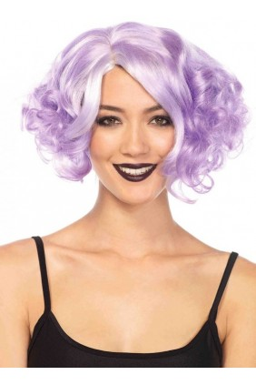Lavender Curly Bob Short Wig Sensual Elegance Fashion, Lingerie and Shoes Women's Sexy Clothing & Lingerie - Clubwear, Plus Size Clothing & Accessories