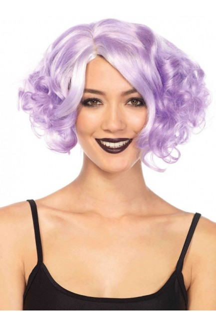 Lavender Curly Bob Short Wig at Sensual Elegance Fashion, Lingerie and Shoes, Women's Sexy Clothing & Lingerie - Clubwear, Plus Size Clothing & Accessories