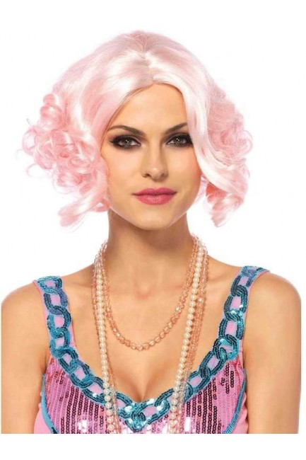 Pink Curly Bob Short Wig at Sensual Elegance Fashion, Lingerie and Shoes, Women's Sexy Clothing & Lingerie - Clubwear, Plus Size Clothing & Accessories