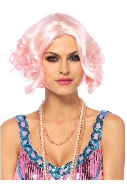 Pink Curly Bob Short Wig
