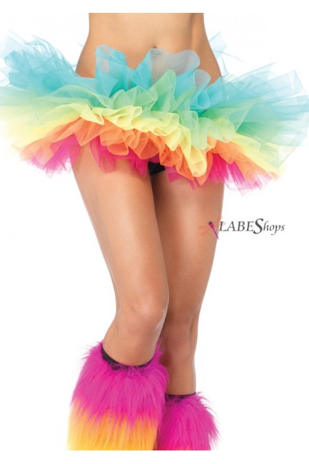 Rainbow Organza Tutu Petticoat at Sensual Elegance Fashion, Lingerie and Shoes, Women's Sexy Clothing & Lingerie - Clubwear, Plus Size Clothing & Accessories