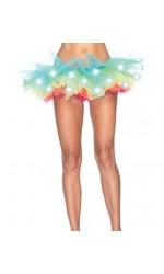LED Light Up Rainbow Neon Tutu Petticoat