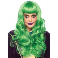 Misfit Mayhem Long Green Wavy Wig