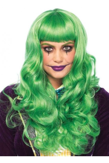 Misfit Mayhem Long Green Wavy Wig at Sensual Elegance Fashion, Lingerie and Shoes, Women's Sexy Clothing & Lingerie - Clubwear, Plus Size Clothing & Accessories