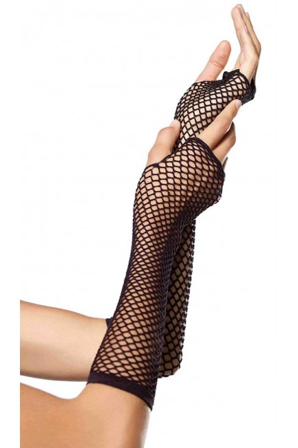 Black Triangle Net Fingerless Gloves at Sensual Elegance Fashion, Lingerie and Shoes, Women's Sexy Clothing & Lingerie - Clubwear, Plus Size Clothing & Accessories