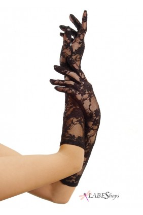 Black Elbow Length Lace Gloves Sensual Elegance Fashion, Lingerie and Shoes Women's Very Sexy Lingerie & Clothing - Clubwear, Bridal Lingerie & Plus Size Lingerie