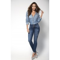 Butt Lifting Girdle Lined Blue Jeans