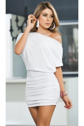 White One Shoulder Date Dress