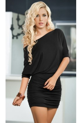 Black One Shoulder Date Dress Sensual Elegance Fashion, Lingerie and Shoes Women's Sexy Clothing & Lingerie - Clubwear, Plus Size Clothing & Accessories