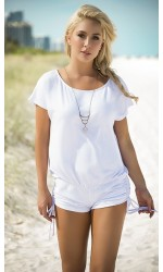 Scoop Neck White Romper