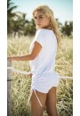 Scoop Neck White Romper at Sensual Elegance Fashion, Lingerie and Shoes, Women's Sexy Clothing & Lingerie - Clubwear, Plus Size Clothing & Accessories