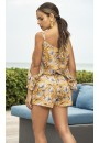 Sunshine Yellow Floral Romper at Sensual Elegance Fashion, Lingerie and Shoes, Women's Sexy Clothing & Lingerie - Clubwear, Plus Size Clothing & Accessories