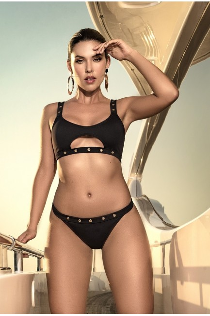 Edgy Black Rivet Bikini at Sensual Elegance Fashion, Lingerie and Shoes, Women's Sexy Clothing & Lingerie - Clubwear, Plus Size Clothing & Accessories