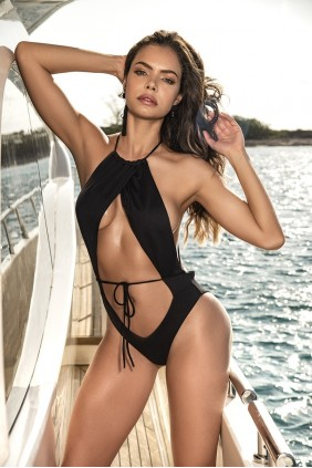 Black Cut Out Monokini Swimsuit Sensual Elegance Fashion, Lingerie and Shoes Women's Sexy Clothing & Lingerie - Clubwear, Plus Size Clothing & Accessories