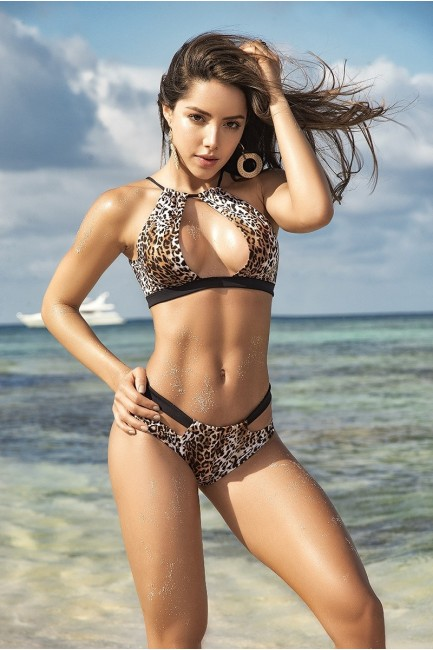 Leopard Print Keyhole Bikini at Sensual Elegance Fashion, Lingerie and Shoes, Women's Sexy Clothing & Lingerie - Clubwear, Plus Size Clothing & Accessories