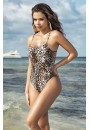 Lattice Back Leopard Print Swimsuit at Sensual Elegance Fashion, Lingerie and Shoes, Women's Sexy Clothing & Lingerie - Clubwear, Plus Size Clothing & Accessories