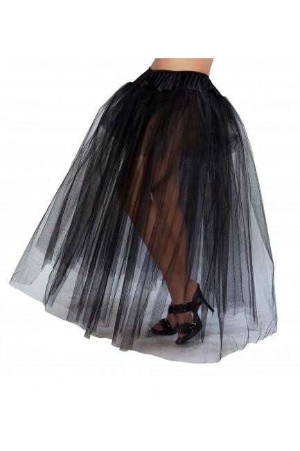 Black Full Length Tulle Skirt